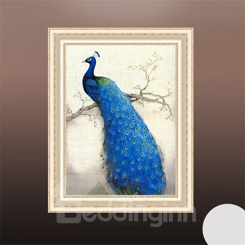 3 Size For Choice Peacock Pattern Simple Style Waterproof Wall Prints