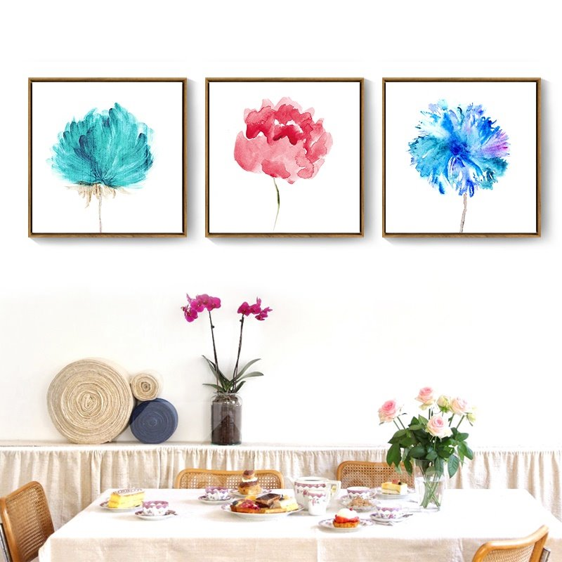 9 Flower Pattern For Choice Simple Style Waterproof Wall Prints