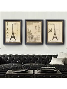 3 Size The Statue Of Liberty Pattern Wood Material Waterproof Wall Prints