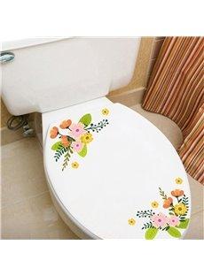 Cute Small Flower Pattern Waterproof PVC Fridge Magnet Toilet Patch Window/Wall Stickers
