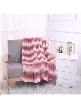 Simple Stripes Light Pink Double Thick Lamb Cashmere Blanket