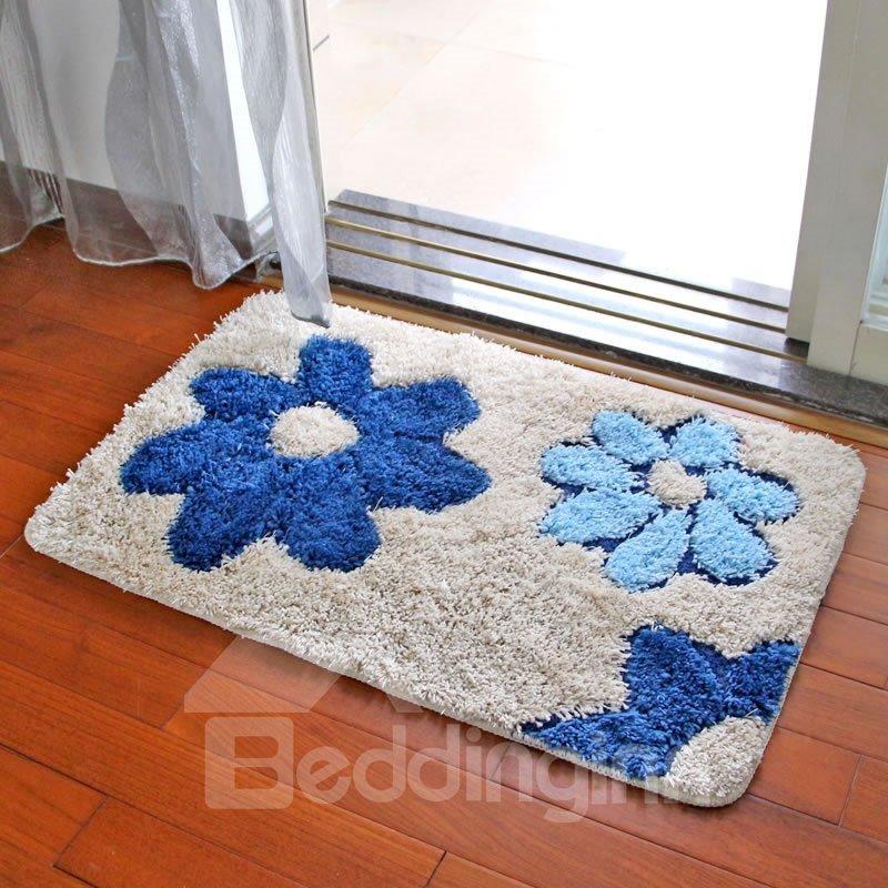 Microfiber Water Absorption Bathroom Anti-Slip Modern Style Area Rug