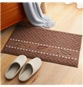 Cotton Blends Hand Wash Rectangle Simple Style Waterproof Area Rug