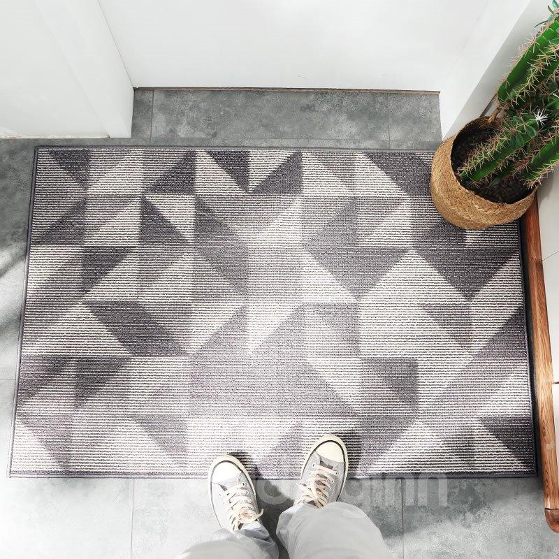 Geometric Pattern Dust Removal Wearproof Anti-Slip Area Rug