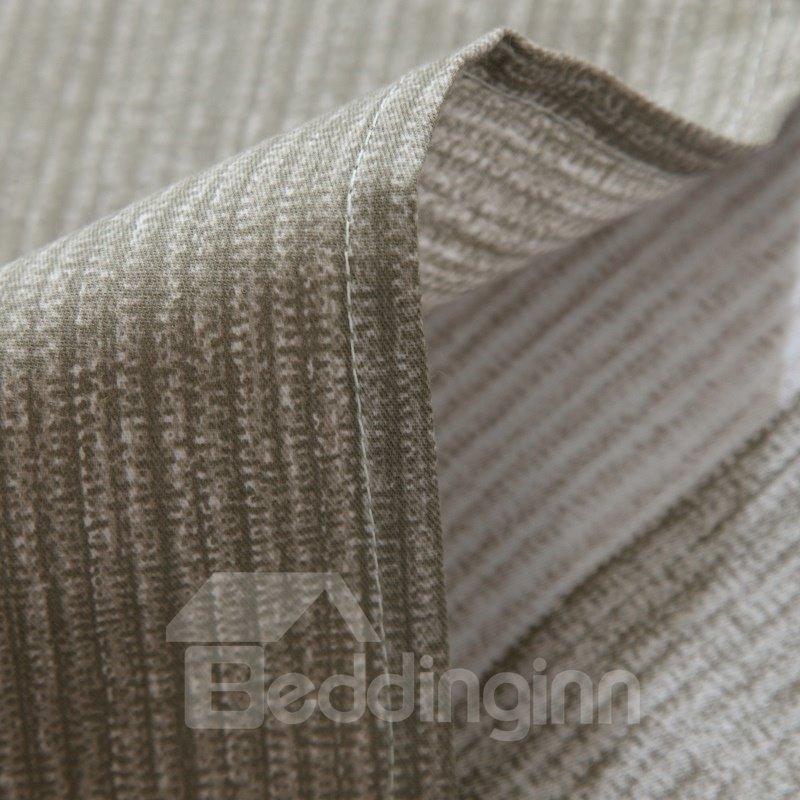 Simple Stripes Style Grey Cotton 4-Piece Bedding Sets/Duvet Cover