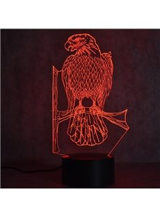 3D LED 7 Color Changing Cool Eagle Table Lamp USB Night Light/Lamp