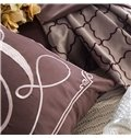 Exquisite Embroidery Style Coffee Cotton 4-Piece Bedding Sets/Duvet Cover