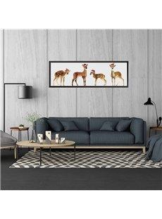 11.8*35.4in Four Christmas Elk Pattern Waterproof PVC Home Decor Wall Stickers