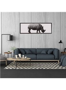 11.8*35.4in Simple Rhinoceros Pattern Waterproof PVC Home Decor Wall Stickers