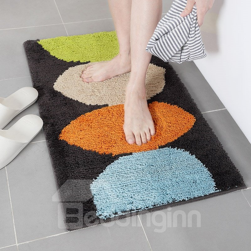 Lemon Graphic Modern Style Water Absorption Anti-Slip Area Rug
