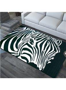 Zebra Thin Fashion European Style Polyester Rectangle Area Rug