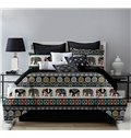Little Elephant and Geometric Bohemian Style Printing 4-Piece Polyester Bedding Sets/Duvet Cover