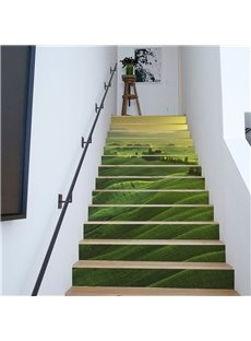 Grassland 6/13 Piece PVC Waterproof Eco-friendly Self-Adhesive Stair Mural