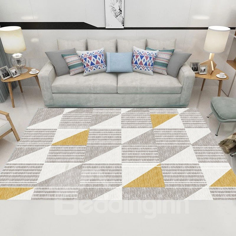 Modern Style 120*160cm Geometric Pattern Machine Made Rectangle Area Rug