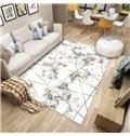 Modern Style 80*160cm Anti-Slip Polyester Rectangle Geometric Pattern Area Rug