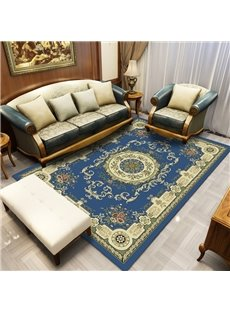 120*160cm European Style Print Anti-Slip Rectangle Polyester Area Rug