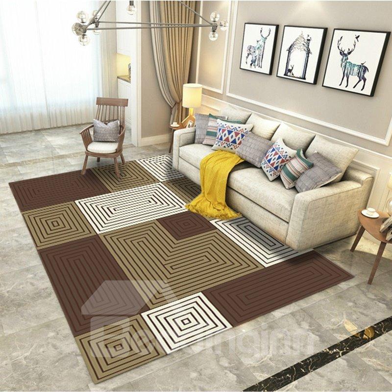 Geometric Graphic 80*150cm Anti-Slip Polyester Rectangle Bedroom Area Rug