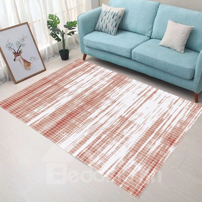 Water Absorption Modern Style 120*160cm Thicken Anti-Slip Polyester Area Rug