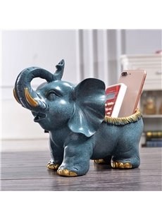 Elephant Resin European Style Storage Hand Painting Desktop Decoration