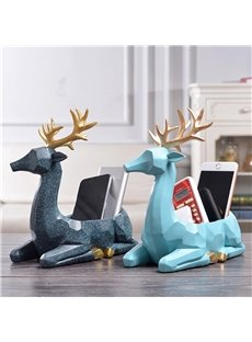 Simple Modern Style Deer Storage Resin Desktop Decoration