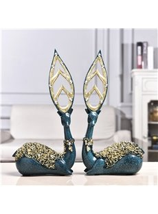 Couple Deer Creative Resin European Style Business Desktop Decoration