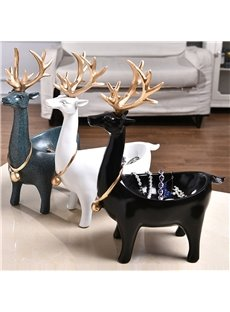 Deer Nordic Style Creative Storage Resin Fastness Desktop Decoration