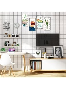 Flower And Cactus Pattern Waterproof PVC Home Decor Wall Stickers