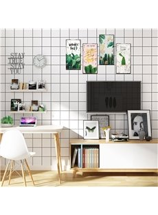 Cactus Pattern Retro Style Rectangle Waterproof PVC Home Decor Wall Stickers