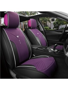 Double Color Fabrics Classic Business Style Universal Car Seat Covers