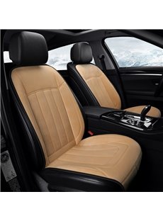 Winter Heating Cushion Simple Style Heating 5 Seats Car Seat Cover