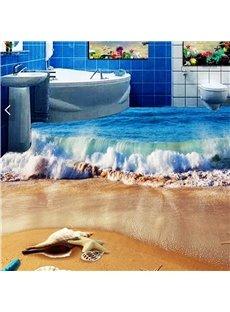 3D Beach PVC Non-slip Waterproof Eco-friendly Self-Adhesive Floor Murals