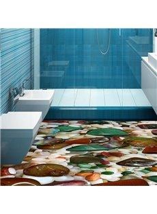 PVC Non-slip 3D Cobblestone Waterproof Eco-friendly Self-Adhesive Floor Murals