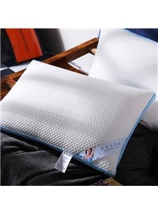 Simple Geometric Style White Cotton Health Water Pillow