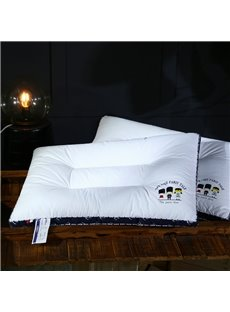 Three Musketeers Printing Pure White Polyester Filler Bed Pillow
