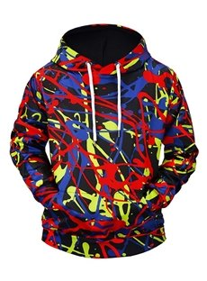 Realistic Loose Model Lightweight Clear Print Bright Color 3D Painted Hoodie