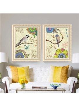 The Creative Birds Pattern 3 Size Glass Waterproof Wall Prints