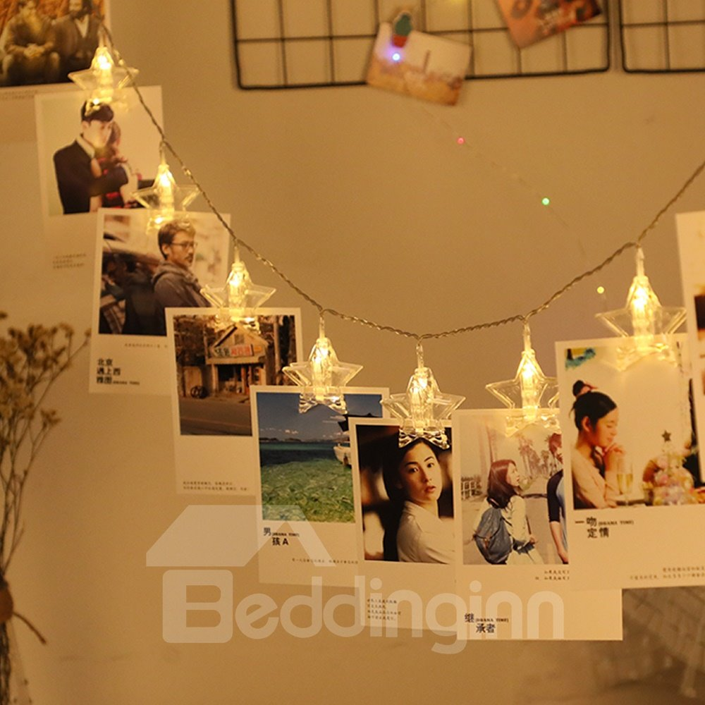 Photo Wall Clip Ins Style Creative Bedroom PVC LED Lights