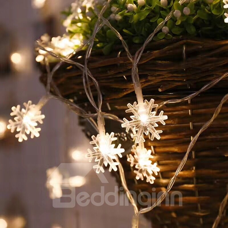 Christmas Snow Pattern USB Holiday PVC LED Lights