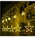Star Shape Christmas Decoration Wedding Ins Style PVC LED Lights