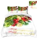 Christmas Ornaments Printing Polyester 3D 4-Piece Christmas Bedding Sets/Duvet Covers