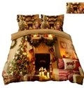 Decorate the House with Christmas Tree and Presents Printing 4-Piece 3D Bedding Sets/Duvet Covers