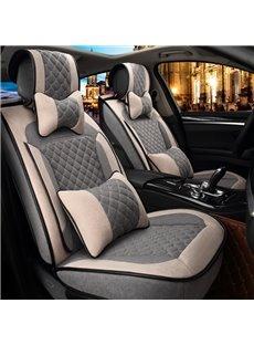 Light Color Visual Warm Soft 3D Shape Universal Fit Car Seat Covers