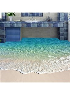 Beautiful Beach PVC Non-slip Waterproof Eco-friendly Self-Adhesive Floor Murals