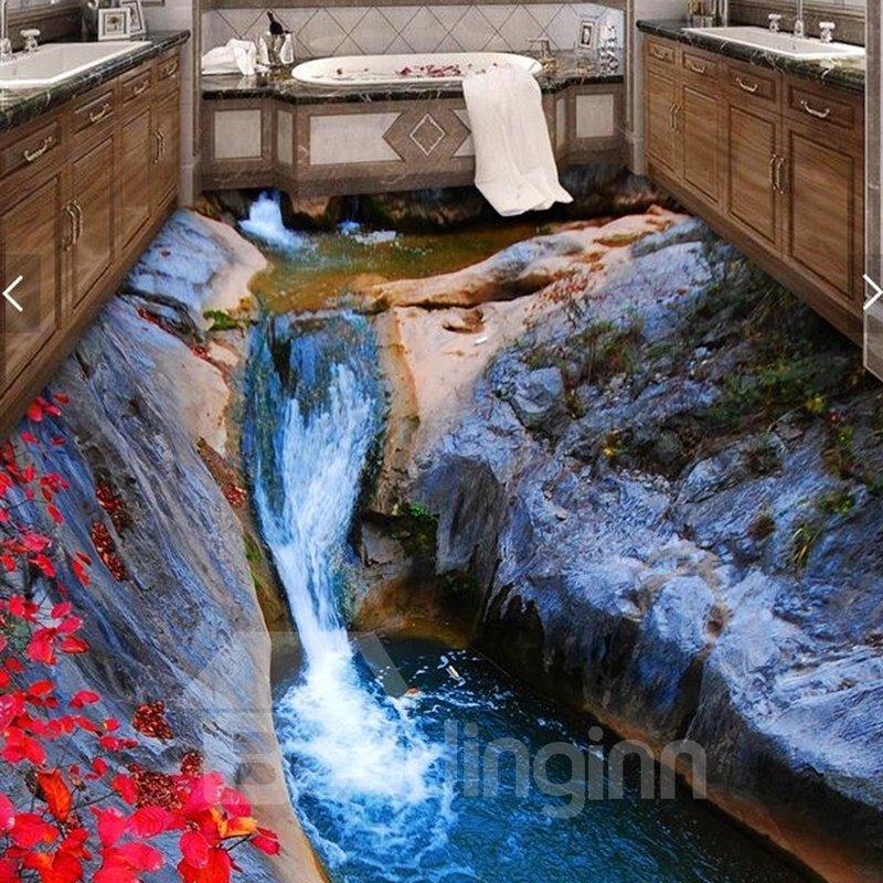3d Dreamful Waterfall Pvc Non Slip Waterproof Eco Friendly