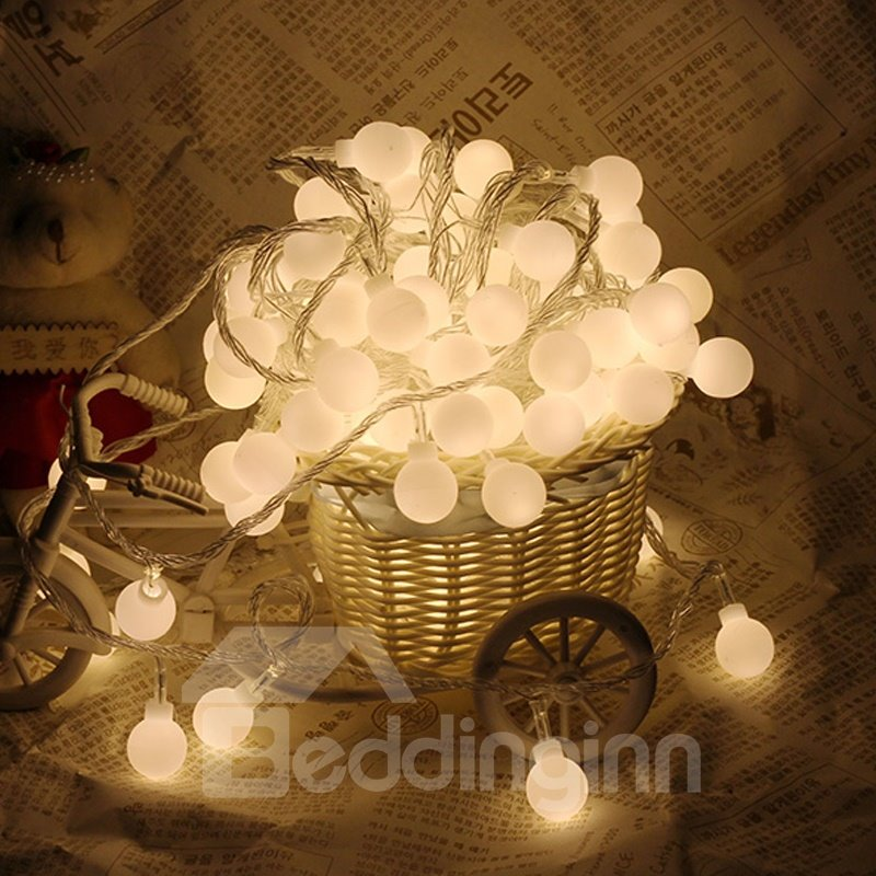 Ball Shape Plastic Elegant Style Holiday Decoration LED Lights