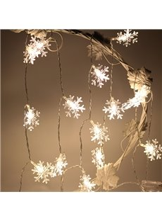 Snow Shape Plastic Holiday Decoration LED Lights