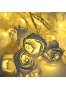 Rose Wedding Holiday Decoration Plastic LED Lights