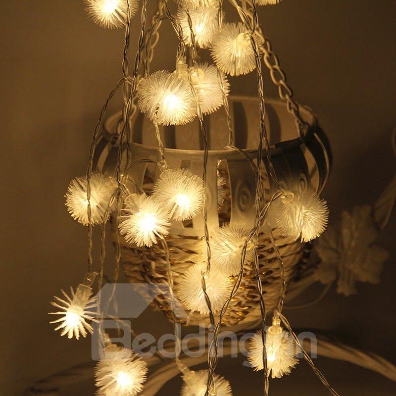 Dandelion Romantic Battery PVC Holiday Decoration LED Lights