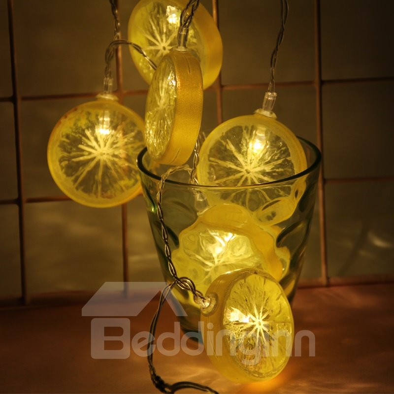 Lemon Shape Simple Style Battery Holiday Decoration LED Lights