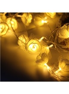 Rose Lace Romantic Wedding Decoration Plastic LED Lights